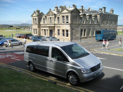 Mercedes Luxury People Carrier at St Andrews Old Course